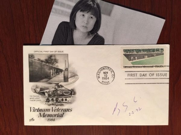 MAYA LIN SIGNED FIRST DAY OF ISSUE VIETNAM VETERANS MEMORIAL ARCHITECT