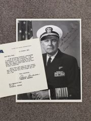 ADMIRAL GEORGE W. ANDERSON JR. SIGNED PHOTO & SIGNED TYPED LETTER