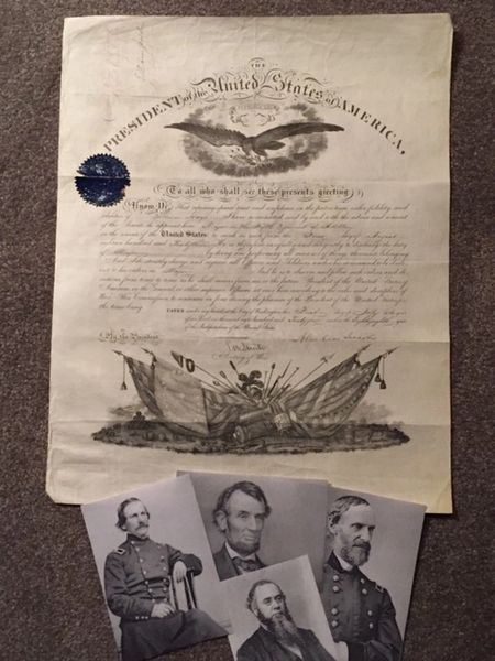 ABRAHAM LINCOLN SIGNED DOCUMENT PROMOTING FUTURE GENERAL WILLIAM HAYS