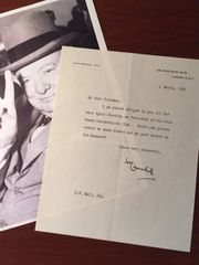 WINSTON CHURCHILL TYPED LETTER SIGNED TO WEST ESSEX CONSERVATIVE CLUB