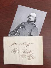 BENJAMIN F BUTLER SIGNED SLIP CIVIL WAR GENERAL, LAWYER, GOVERNOR OF MASS