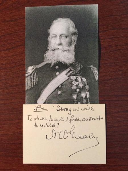 GENERAL ADOLPHUS W GREELY ARCTIC EXPLORER, MEDAL OF HONOR, TENNYSON