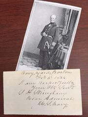 ADMIRAL SILAS H STRINGHAM SIGNED, WAR 1812, BARBARY WAR, MEX-AM WAR, CIVIL WAR