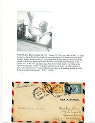 FRANK HAWKS HAND SIGNED FLOWN POSTAL COVER BY AVIATION PIONEER