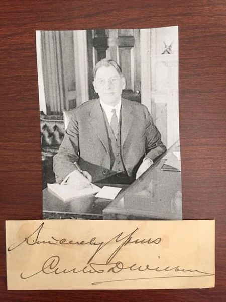 CURTIS D WILBUR SIGNED, SEC. OF NAVY, CALIFORNIA SUPREME COURT, NAVAL AIR FORCE, BEAR FAMILY BOOK