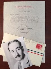ADOLPHE MENJOU LETTER SIGNED, AM ACTOR, CONSERVATIVE REPUBLICAN