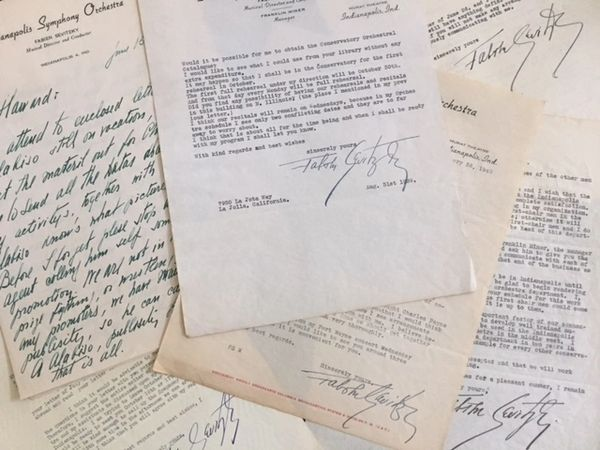 RUSSIAN-AMERICAN CONDUCTOR FABIEN SEVITZKY SIGNED ARCHIVE OF 25 AUTOGRAPHED LETTERS