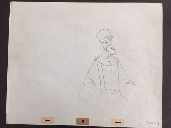 SLEEPING BEAUTY ORIGINAL WALT DISNEY PRODUCTION DRAWING OF KING STEFAN