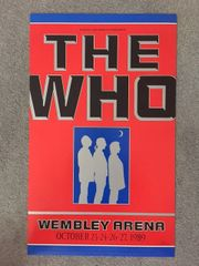 THE WHO, ORIGINAL 1989 WEMBLEY STADIUM CONCERT POSTER, 17 X 28, IN NEAR MINT CONDITION