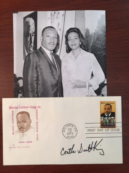 CORETTA SCOTT KING SIGNED MARTIN LUTHER KING, JR. FIRST DAY COVER