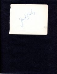 WIZZARD OF OZ JACK HALEY SIGNATURE WITH TIN-MAN PHOTO