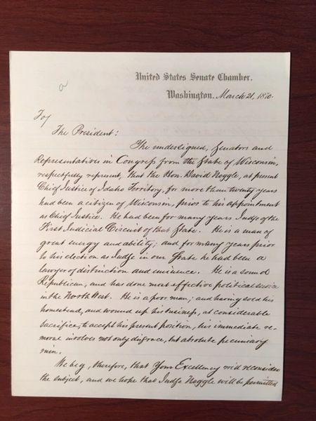 CADWALLADER C. WASHBURN, HALBERT E. PAINE, LETTER SIGNED TO U.S. GRANT