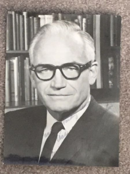 BARRY GOLDWATER SIGNED PHOTO TO AVIATION PIONEER ROSCOE TURNER