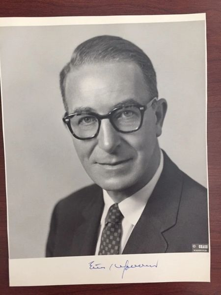 ESTES KEFAUVER SIGNED PHOTO, POLITICIAN, ORANIZED CRIME, MAFIA, V. P. CANDIDATE