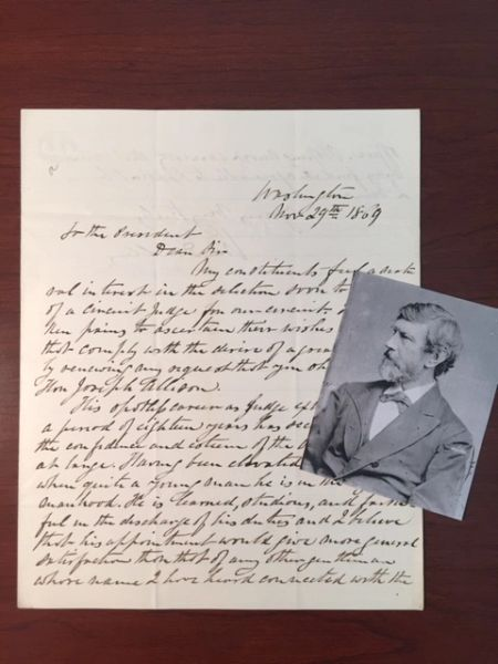WILLIAM D. KELLY HANDWRITTEN LETTER SIGNED TO U.S. GRANT, BLACK TROOPS, CIVIL RIGHTS, JUDGE