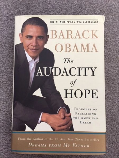 BARACK OBAMA SIGNED THE AUDACITY OF HOPE, FIRST EDITION, 44th U.S. PRESIDENT