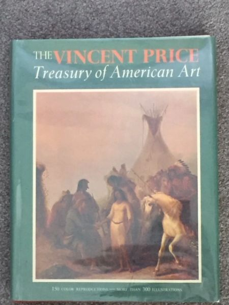 THE VINCENT PRICE TREASURY OF AMERICAN ART SIGNED & INSCRIBED TO LIFETIME FRIEND