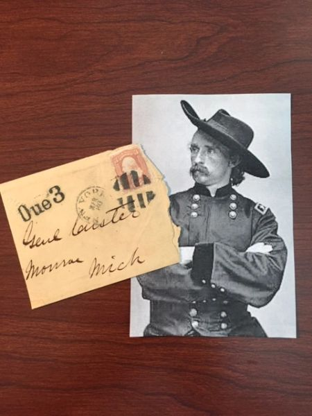 GENERAL GEORGE ARMSTRONG CUSTER HAND-SIGNED ENVELOPE CUT