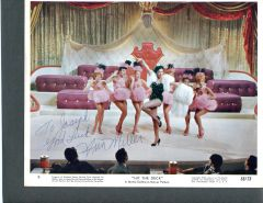 ANN MILLER SIGNED VINTAGE COLOR MGM PUBLICITY PHOTO 10 X 8 FOR HIT THE DECK 1955