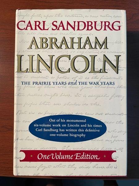 CARL SANDBURG SIGNED ONE VOLUME THE PRAIRIE YEARS & THE WAR YEARS