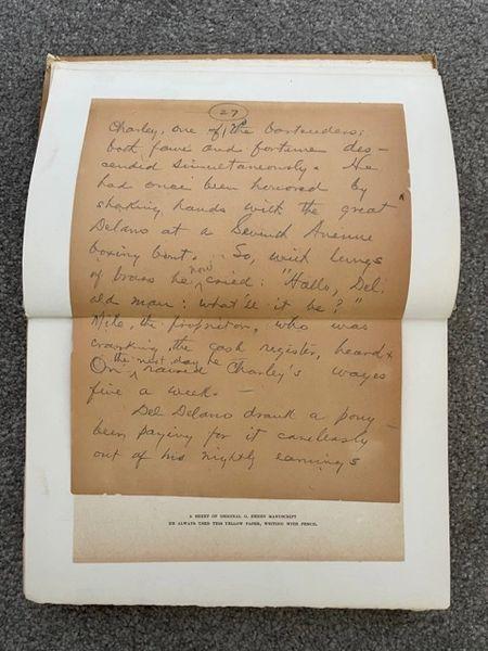 O. HENRY (WILLIAM SYDNEY PORTER) HANDWRITTEN MANUSCRIPT PAGE, THE FOUR MILLION