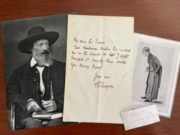 ALFRED LORD TENNYSON HANDWRITTEN LETTER SIGNED TO SIR JAMES PAGET