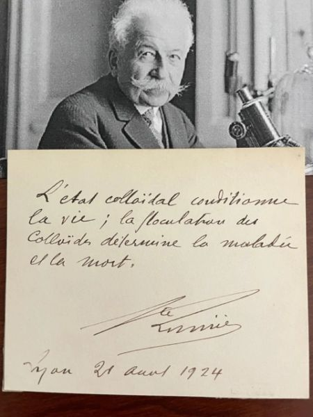 AUGUSTE LUMIERE QUOTE SIGNED, FRENCH ENGINEER, BIOLOGIST, INDUSTRIALIST
