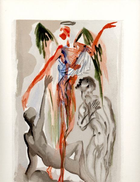 "SALVADOR DALI ORIGINAL LIMITED EDITION WOODBLOCK PRINT, ""PURGATORY 32"", C.1965, 10 X 13"
