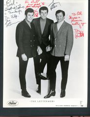 THE LETTERMEN GROUP SIGNED PHOTO WITH JIM AND GARY PIKE AND TONY BUTALA
