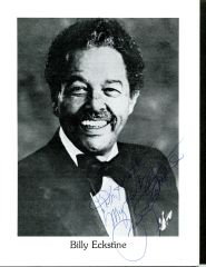 BILLY ECKSTINE SIGNED 8 X 10 PROGRAM PHOTO FOR BILLY ECKSTINE'S DAY 1987