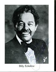BILLY ECKSTINE SIGNED 8 X 10 PROGRAM PHOTO FOR BILLY ECKSTINE'S DAY 1987