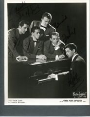 THE FOUR LADS SIGNED GROUP PHOTOGRAPH BY ALL 4 ORIGINAL MEMBERS