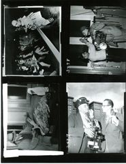WEEGEE (ARTHUR FELLIG) ORIGINAL VINTAGE CONTACT SHEET FOUR IMAGES OF NEW YORK PHOTOJOURNALIST