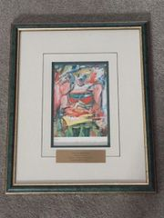 """WILLEM DE KOONING HAND-SIGNED REPRODUCTION OF """"WOMAN V"""", 1953"""