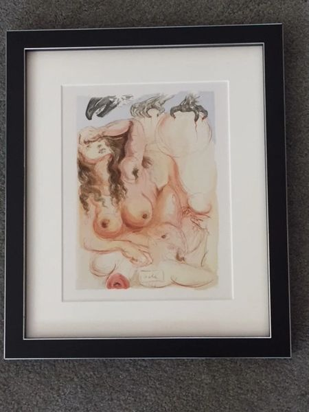 """SALVADORE DALI ORIGINAL SIGNED LIMITED EDITION WOODBLOCK PRINT """"THE EAGLE OF GRACE"""" 1965"""