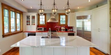 Set in beautiful scenic Blue Mountains this kitchen was created.  While keeping the rustic feel wit