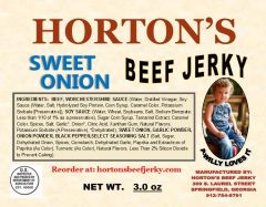 Sweet Onion Beef Jerky