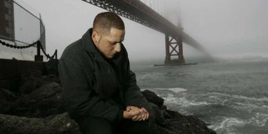 Kevin Hines at the Golden Gate Bridge