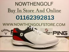 FootJoy ARC XT Golf Shoes (White/Black/Red)