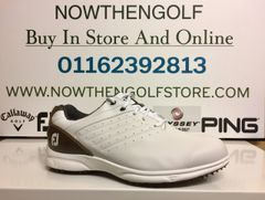 FootJoy ARC SL Golf Shoes (White/Brown)