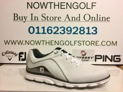 FootJoy Pro/SL Golf Shoes (White/Grey)