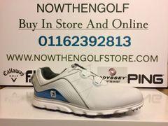 FootJoy Pro/SL BOA Golf Shoes (White/Blue)