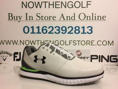 Under Armour Showdown SL E Golf Shoes (White/Black)