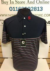 FootJoy Stretch Lisle Multi Pinstripe Shirt (Navy)