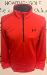Under Armour Half Zip Fleece Pullover (Red)