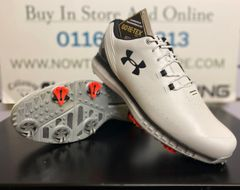 Under Armour HOVR Drive GTX Golf Shoes (White/Black)