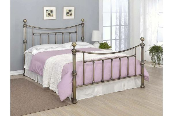 Stratford Antique Brass Bed Frame- Double