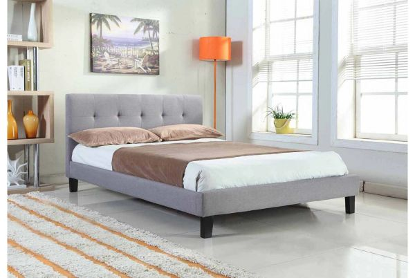 Blenheim Fabric Bed - Double or King Size- Brown, Black, Grey