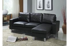 Relax L Shaped Corner Sofa in Black