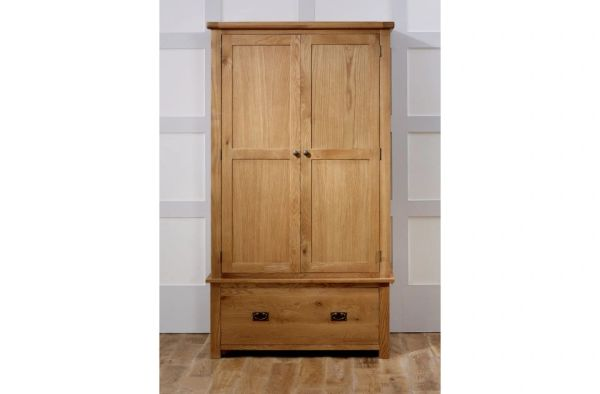 Malvern oak 2 Door 1 Drawer Wardrobe